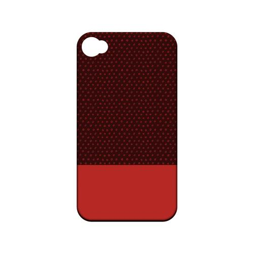 Little Circle Dots Poppy Red - Geeks Designer Line Pantone Color Series Hard Case for Apple iPod Touch 4