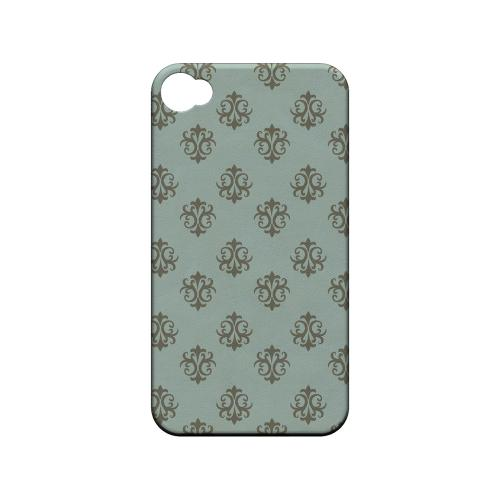 Ornamental Dusk Blue - Geeks Designer Line Pantone Color Series Matte Case for Apple iPhone 4/4S