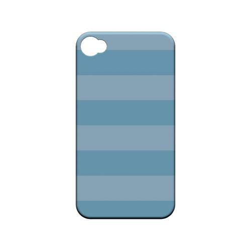 Stripes Dusk Blue - Geeks Designer Line Pantone Color Series Matte Case for Apple iPhone 4/4S