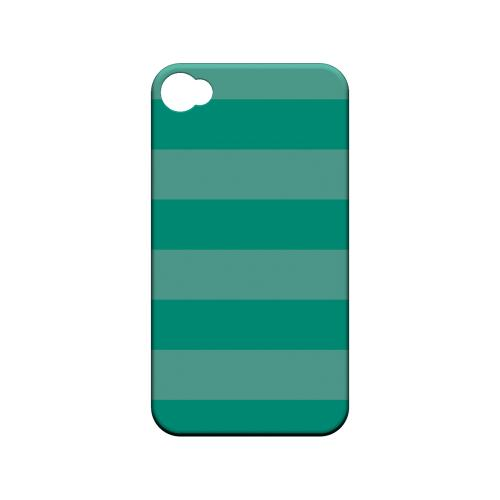 Stripes Emerald - Geeks Designer Line Pantone Color Series Matte Case for Apple iPhone 4/4S