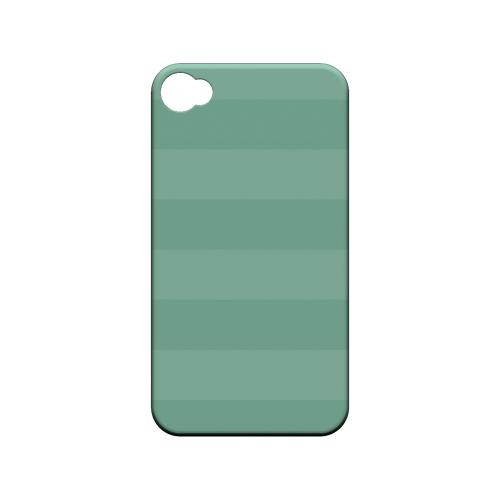 Stripes Grayed Jade - Geeks Designer Line Pantone Color Series Matte Case for Apple iPhone 4/4S