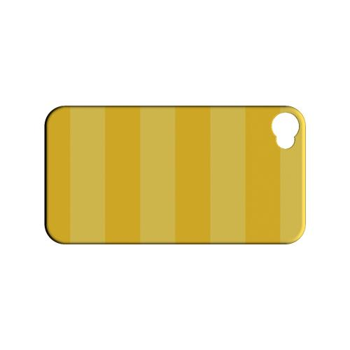 Stripes Lemon Zest - Geeks Designer Line Pantone Color Series Matte Case for Apple iPhone 4/4S