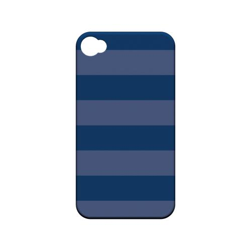 Stripes Monaco Blue - Geeks Designer Line Pantone Color Series Matte Case for Apple iPhone 4/4S