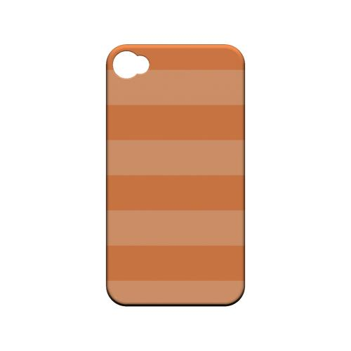 Stripes Nectarine - Geeks Designer Line Pantone Color Series Matte Case for Apple iPhone 4/4S