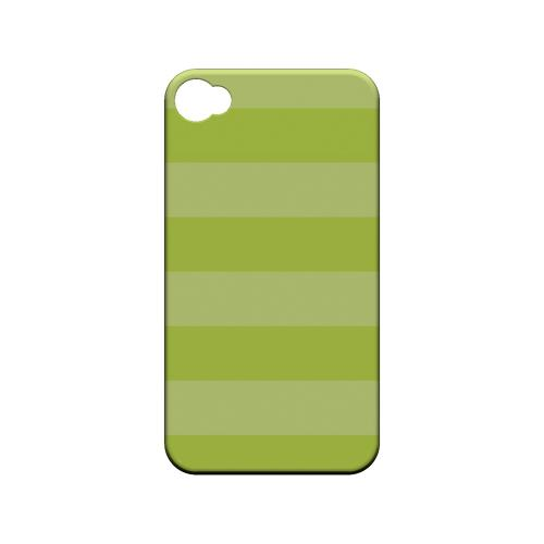 Stripes Tender Shoots - Geeks Designer Line Pantone Color Series Matte Case for Apple iPhone 4/4S
