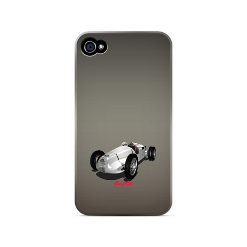 Classic Audi Race Car - Geeks Designer Line Auto Series Matte Case for Apple iPhone 4/4S