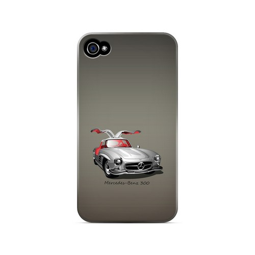 Classic Benz 300 Fade - Geeks Designer Line Auto Series Matte Case for Apple iPhone 4/4S