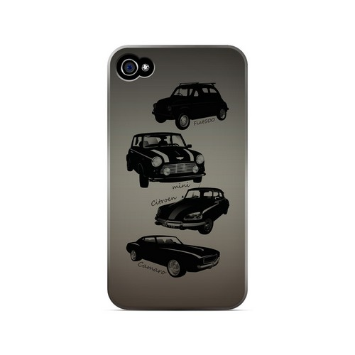 Classic Cars Fiat  Mini  Citroen  & Camaro - Geeks Designer Line Auto Series Matte Case for Apple iPhone 4/4S