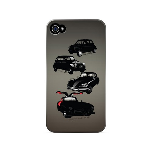 Classic Euro Cars Fade - Geeks Designer Line Auto Series Matte Case for Apple iPhone 4/4S