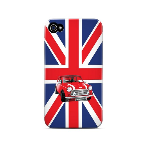 Solo Mini Cooper on Union Jack - Geeks Designer Line Auto Series Matte Case for Apple iPhone 4/4S