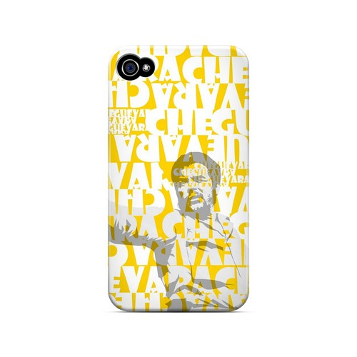 Che Guevara Discurso Faded Yellow - Geeks Designer Line Revolutionary Series Matte Case for Apple iPhone 4/4S
