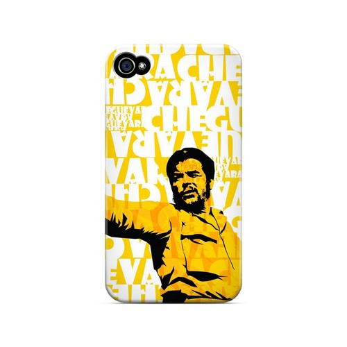 Che Guevara Discurso Pure Yellow - Geeks Designer Line Revolutionary Series Matte Case for Apple iPhone 4/4S