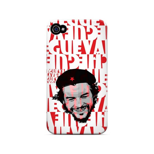 Che Guevara Happy Revolutionary on Red - Geeks Designer Line Revolutionary Series Matte Case for Apple iPhone 4/4S