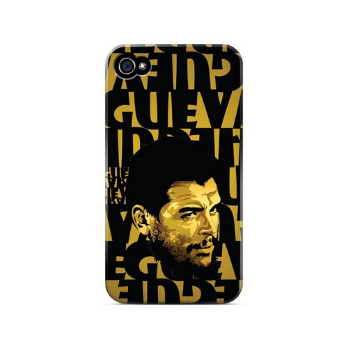 Che Guevara Serious Man on Gold - Geeks Designer Line Revolutionary Series Matte Case for Apple iPhone 4/4S