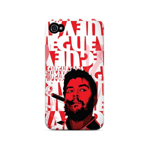 Che Guevara Smoke Red - Geeks Designer Line Revolutionary Series Matte Case for Apple iPhone 4/4S