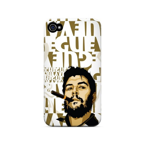 Che Guevara Smoke White Letters - Geeks Designer Line Revolutionary Series Matte Case for Apple iPhone 4/4S