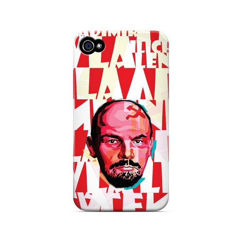 Lenin Complex on Red - Geeks Designer Line Revolutionary Series Matte Case for Apple iPhone 4/4S