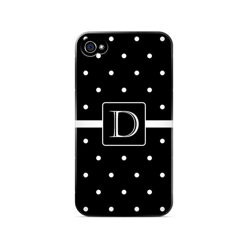 D on Classic Mini Polka Dots - Geeks Designer Line Monogram Series Matte Case for Apple iPhone 4/4S