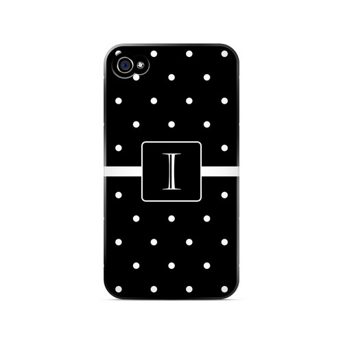 I on Classic Mini Polka Dots - Geeks Designer Line Monogram Series Matte Case for Apple iPhone 4/4S