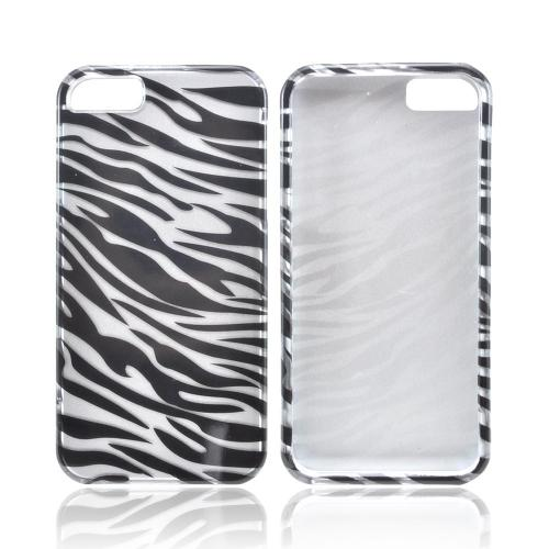 Apple iPhone 5/5S Hard Case - Black/ Silver Zebra
