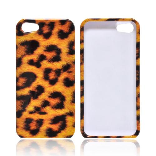 Apple iPhone 5/5S Hard Case - Brown Leopard/ Black
