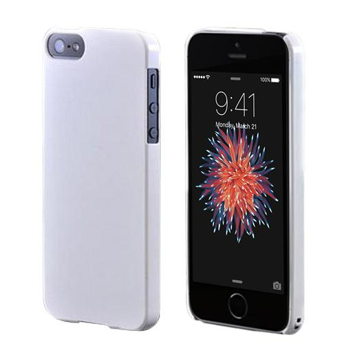 [Apple iPhone SE/5/5S] Hard Case,  [Glossy White]  Slim & Protective Crystal Glossy Snap-on Hard Polycarbonate Plastic Case Cover