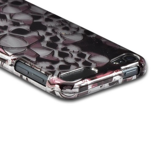 Black/ Silver Skulls Hard Case for Apple iPod Touch 5