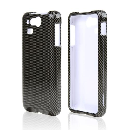 Gray/ Black Carbon Fiber Design Hard Case for Kyocera Hydro Elite C6750