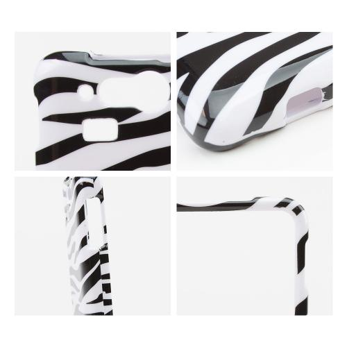 Black Zebra on White Hard Case for Kyocera Hydro Elite C6750