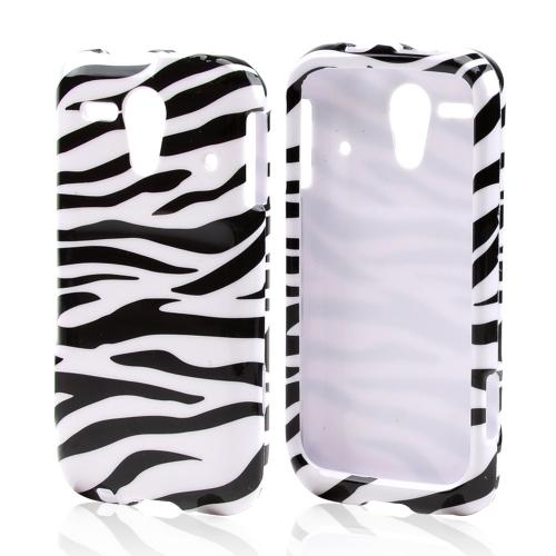 Black Zebra on White Hard Case for Kyocera Hydro Edge