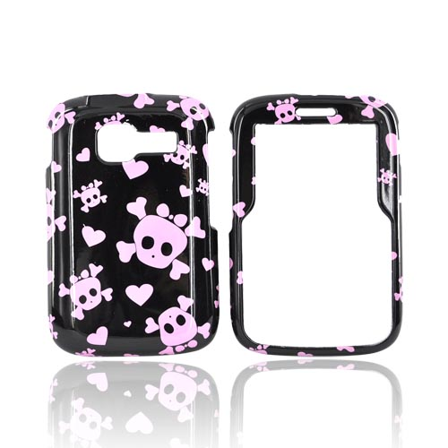 Kyocera Torino S2300 Hard Case - Pink Skulls on Black