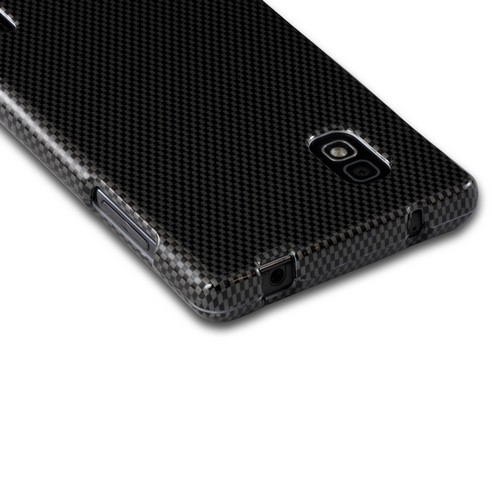 Black/ Gray Carbon Fiber Design Hard Case for LG Optimus G (AT&T)