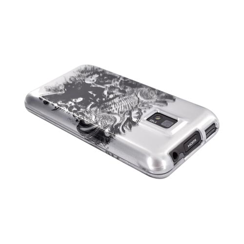 T-Mobile G2X Hard Case - Army Skull on Silver