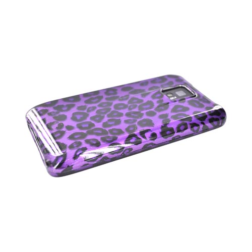 T-Mobile G2X Hard Case - Black Leopard on Purple