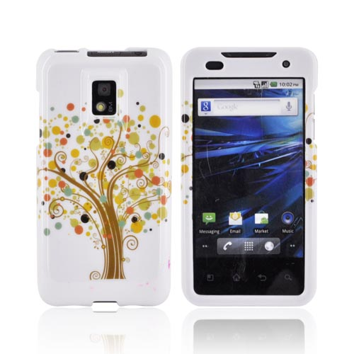 T-Mobile G2X Hard Case - Tree Design on White