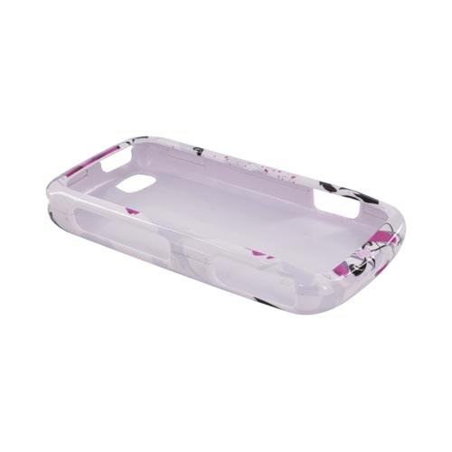LG Sentio GS505 Hard Case - Pink Flowers on White