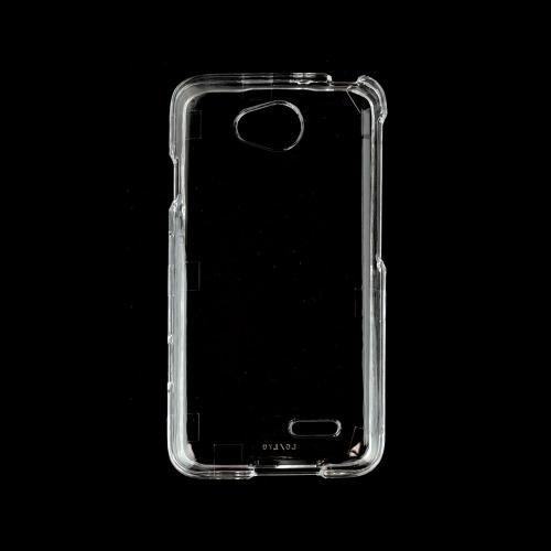 Clear LG Optimus Exceed 2/ LG L70 Plastic Hard Case Cover - Great Basic Protection And Show Off Your Phone!