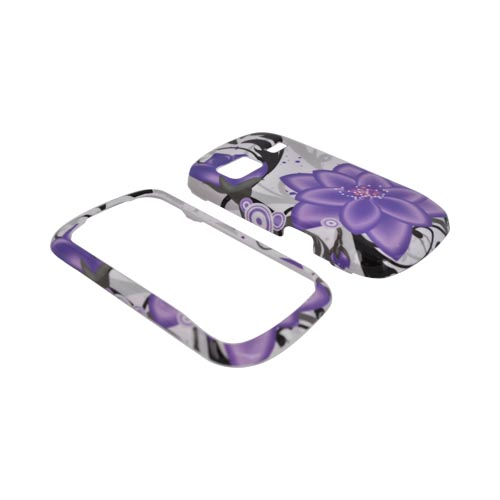 LG Rumor Reflex Hard Case - Purple Lily on White