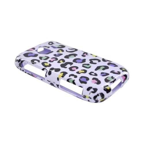 LG Optimus S LS670 Hard Case - Colorful Leopard on White