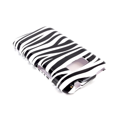 LG Optimus Elite Hard Case - Black/ White Zebra