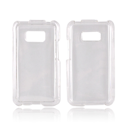 LG Optimus Elite Hard Case - Transparent Clear
