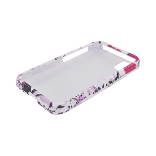 LG Marquee LS855 Hard Case - Pink Flower Splash on White