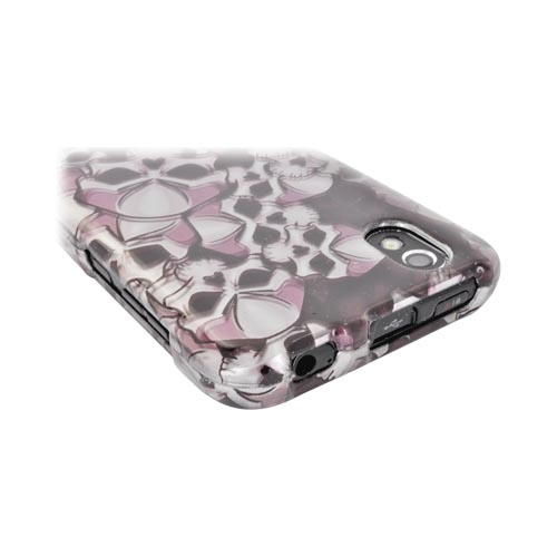 LG Marquee LS855 Hard Case Cover - Skulls on Black