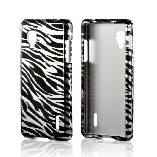 Silver/ Black Zebra Hard Case for LG Optimus G (Sprint)