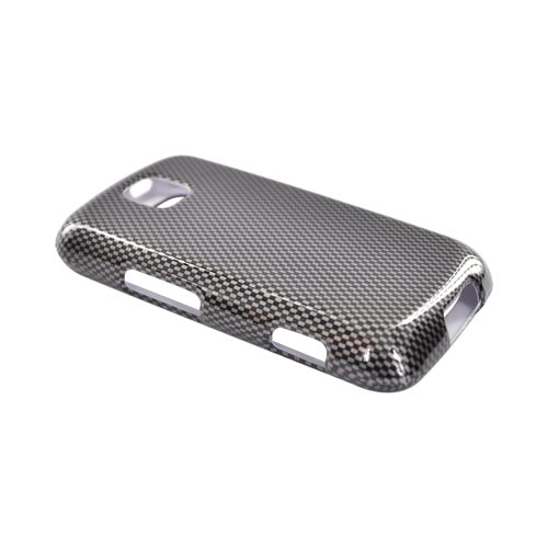 LG Optimus M MS690 Hard Case - Carbon Fiber
