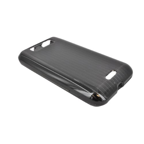 LG Viper 4G LTE/ LG Connect 4G Hard Case - Silver Lines on Black