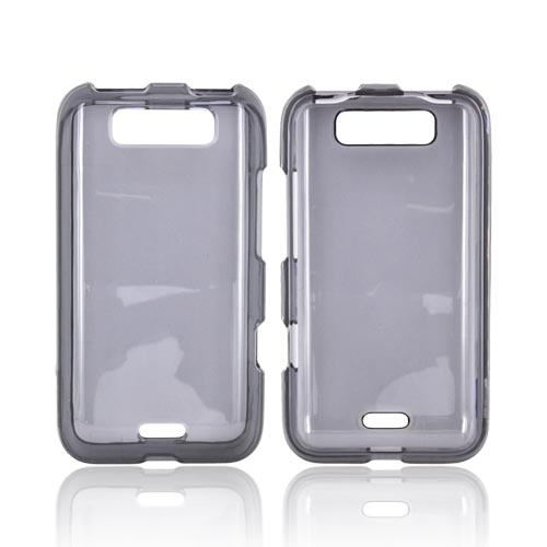 LG Viper 4G LTE/ LG Connect 4G Hard Case - Transparent Smoke