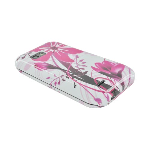 T-Mobile MyTouch Q Hard Case - Pink Flower Splash on White