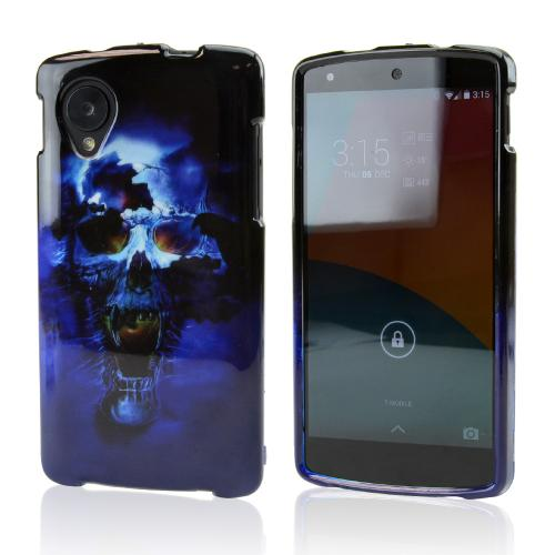 Blue Skull Hard Case for LG Google Nexus 5