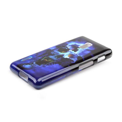 Blue Skull Hard Case for LG Optimus F7